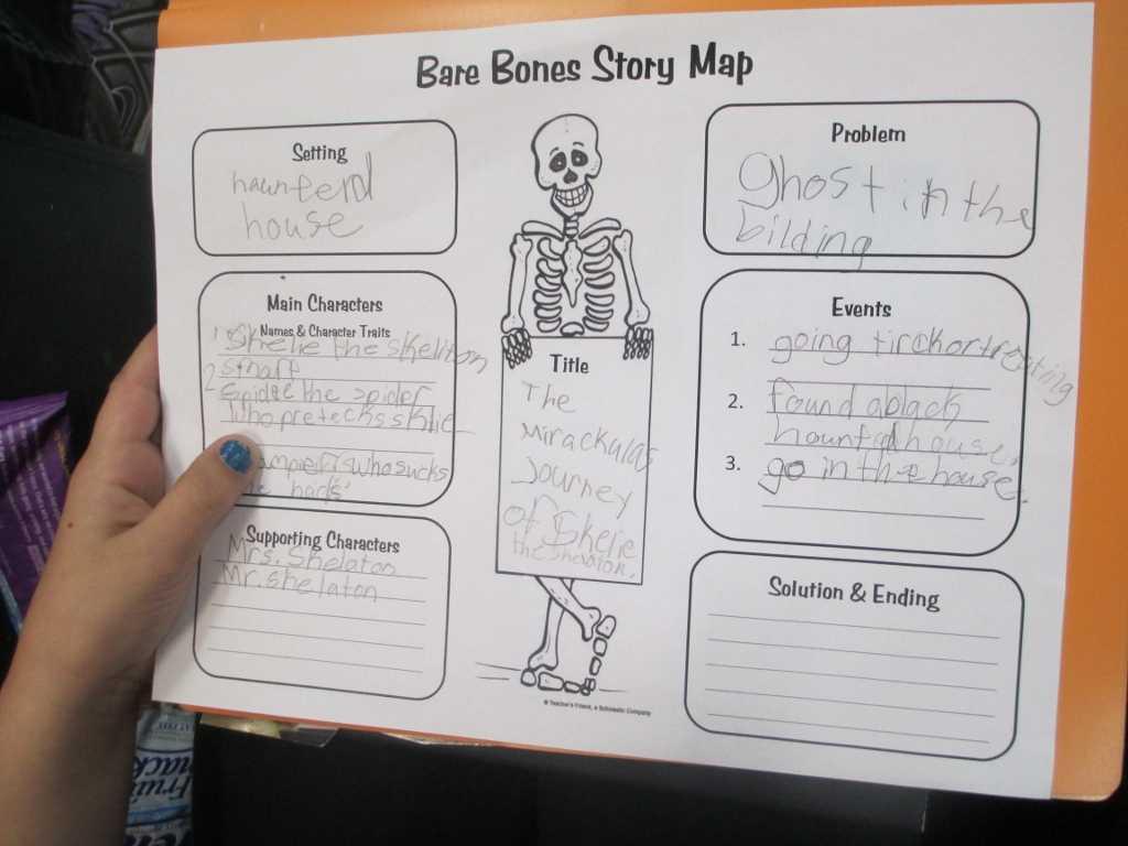 Crafty Symmetric Skeletons | Scholastic Inside Story Skeleton Book Report Template