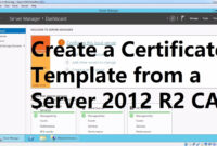 Create A Certificate Template From A Server 2012 R2 Certificate Authority pertaining to Active Directory Certificate Templates