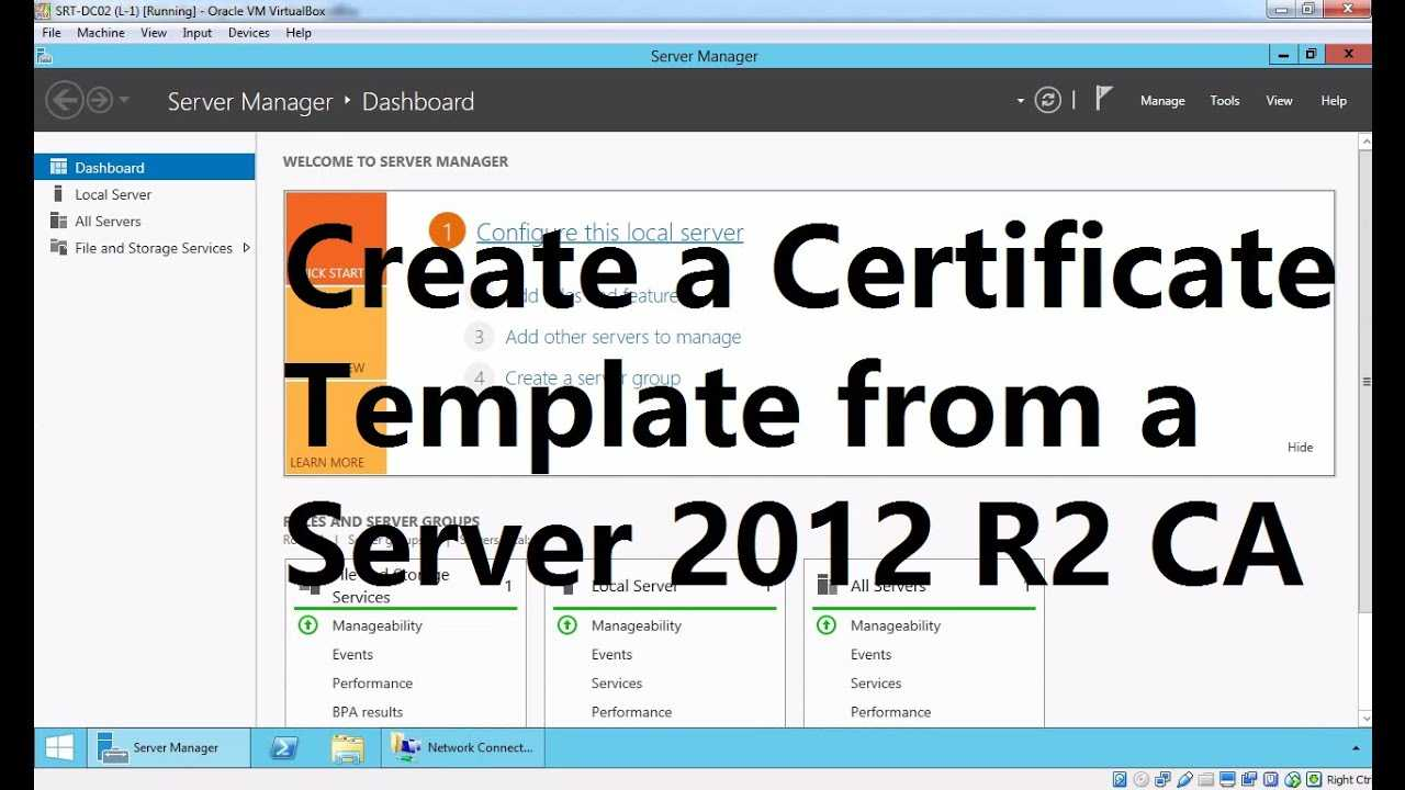 Create A Certificate Template From A Server 2012 R2 Certificate Authority Throughout Certificate Authority Templates