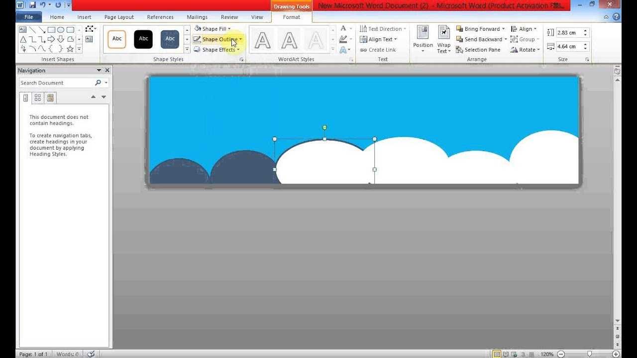 Create Banner Using Ms Word Intended For Banner Template Word 2010