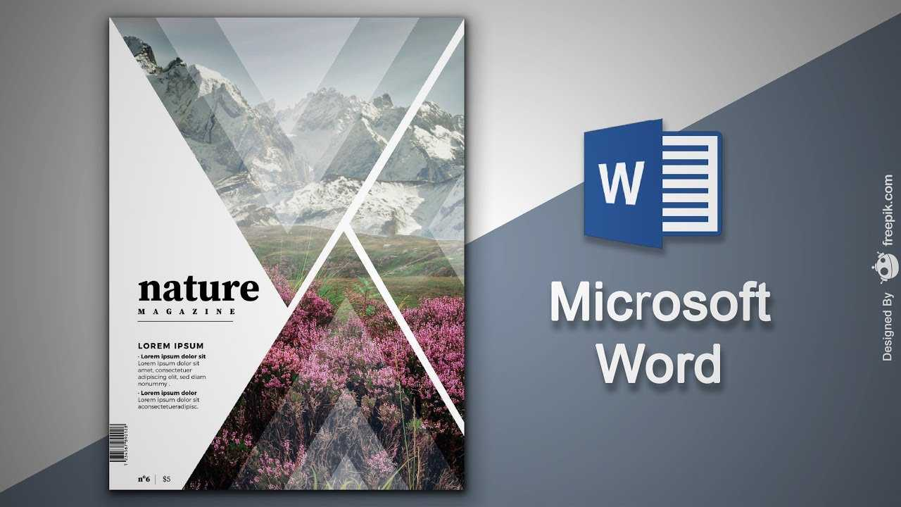 Create Cover Page In Microsoft Word | Natural Magazine Cover Designing In  Ms Word with regard to Magazine Template For Microsoft Word