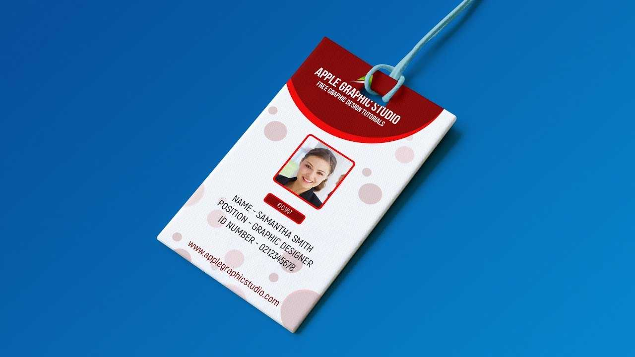 Create Professional Id Card Template - Photoshop Tutorial Intended For Id Card Design Template Psd Free Download