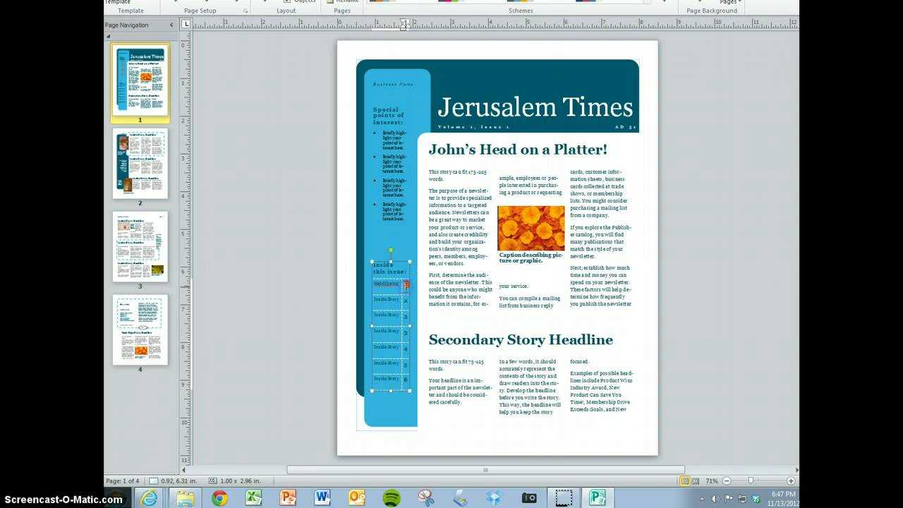 Create Your Magazine Content With Magazine Template For Microsoft Word
