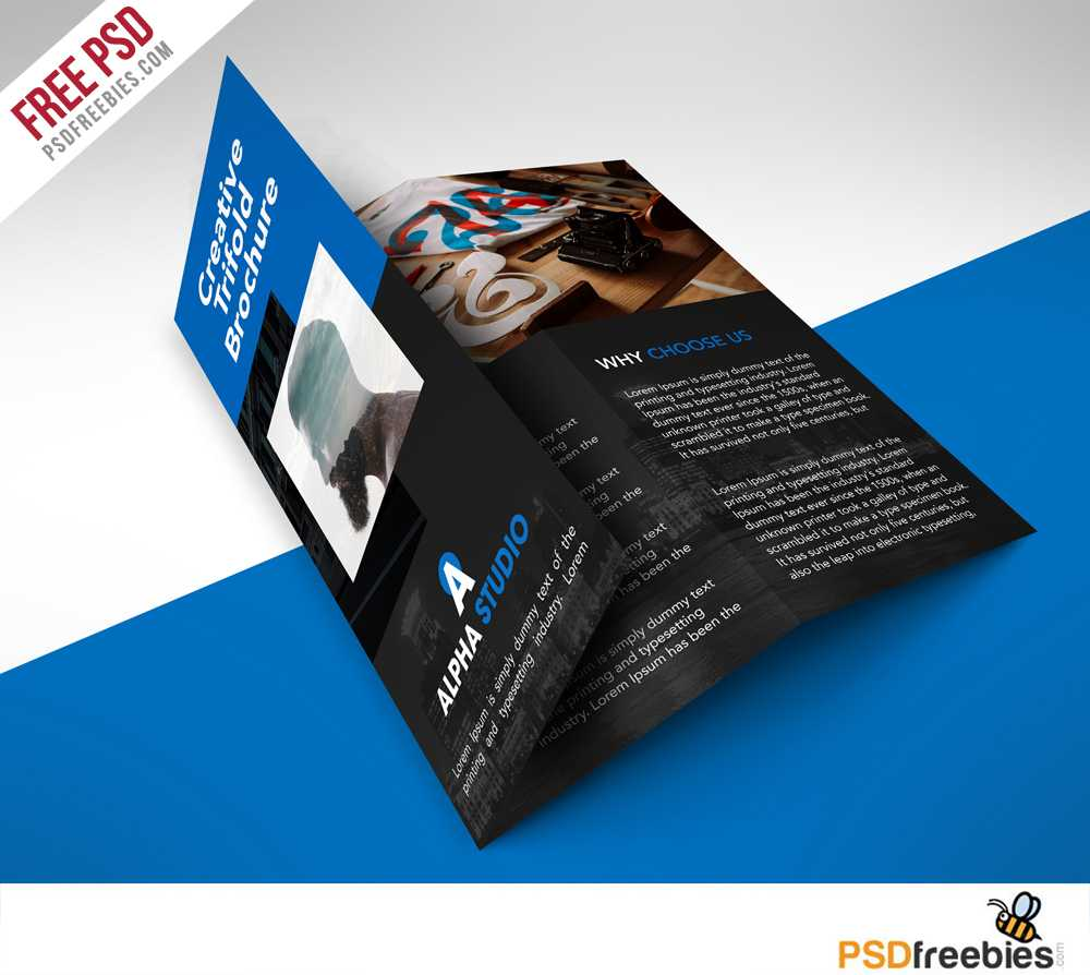 Creative Agency Trifold Brochure Free Psd Template regarding Brochure Psd Template 3 Fold
