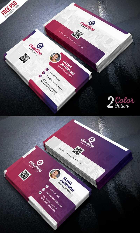 Creative Business Card Template Psd Set | Psdfreebies for Unique Business Card Templates Free