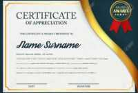 Creative Certificate Of Appreciation Award Template. Certificate.. Intended For Manager Of The Month Certificate Template