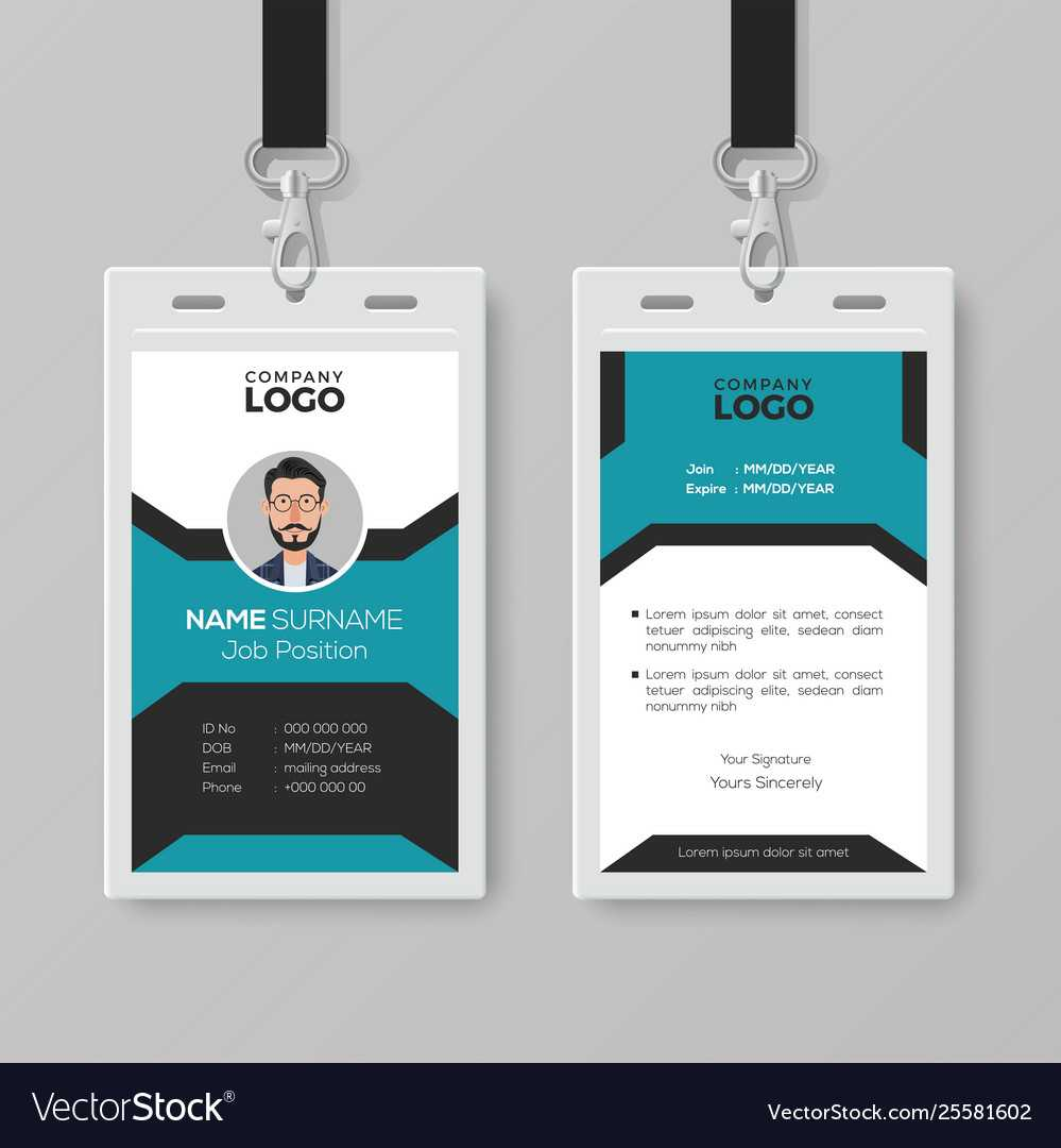 Creative Employee Id Card Template Throughout Template For Id Card Free Download