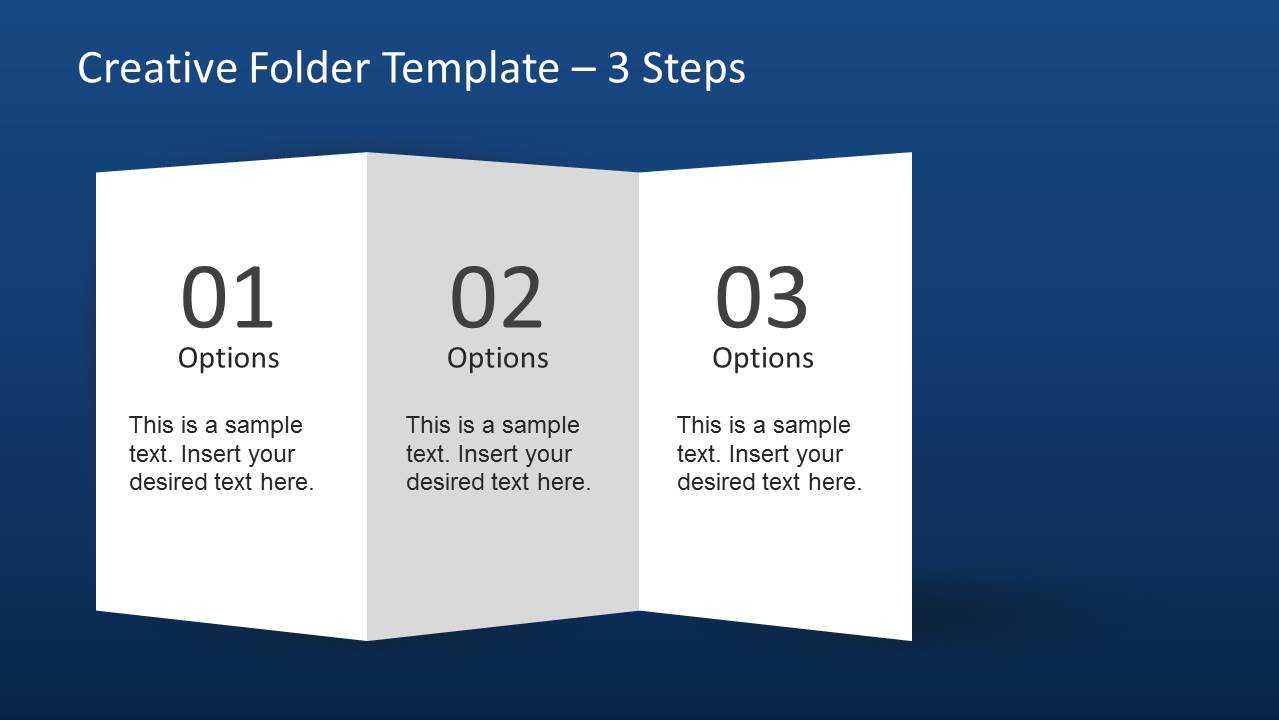 Creative Folder Template Layout For Powerpoint Inside Brochure 4 Fold Template