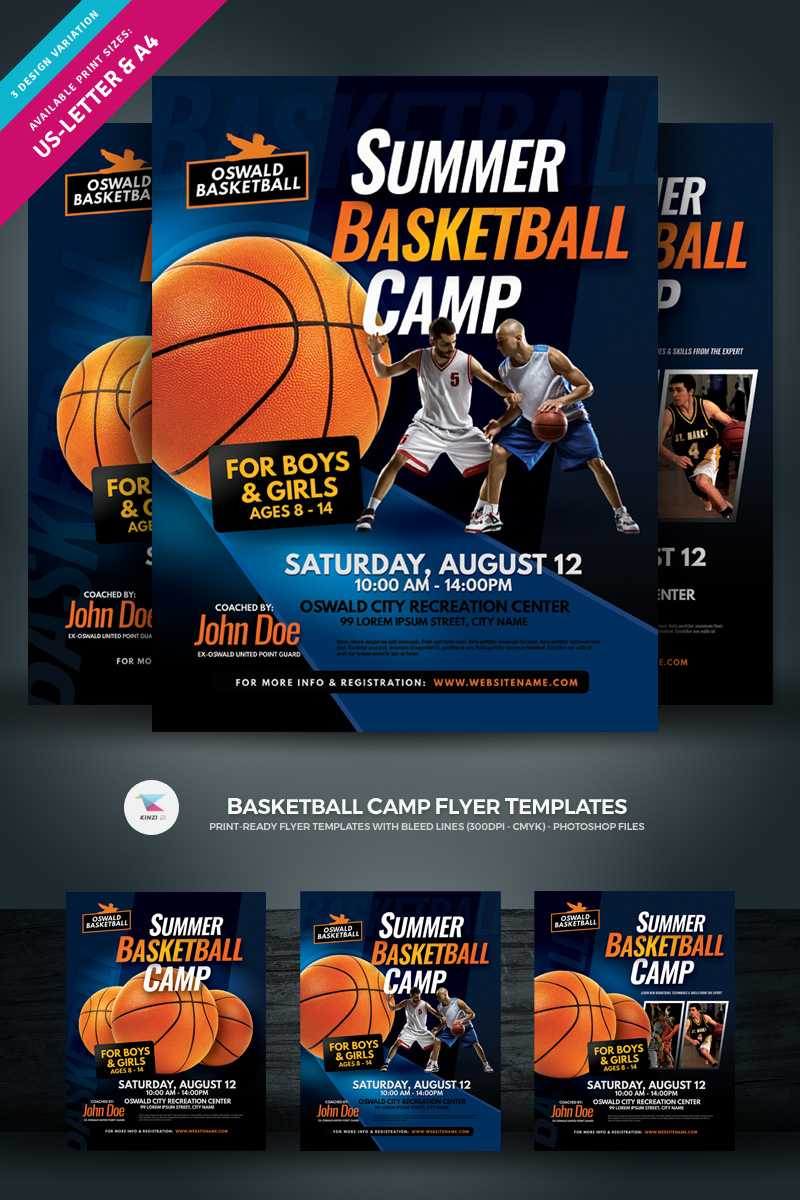 Creative Ready Made Sports Camp Flyer Templates | Entheosweb Pertaining To Basketball Camp Brochure Template