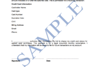 Credit Card Authorisation Form – Free Template | Sample In Credit Card Authorisation Form Template Australia