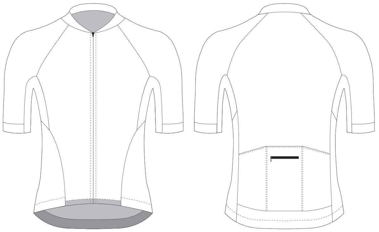 Custom Blank Cycling Jersey Design Template - Cyclingbox Pertaining To Blank Cycling Jersey Template