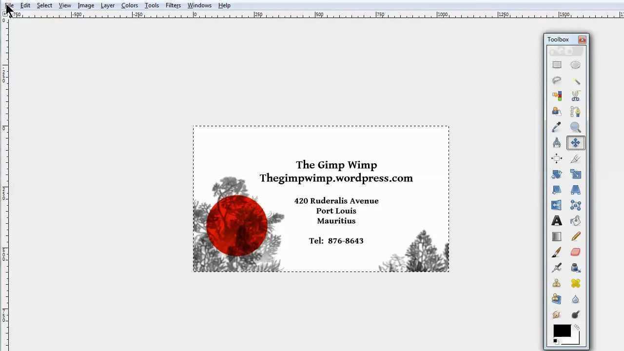 Custom Business Card In Gimp 2.8The Gimpwimp For Gimp Business Card Template