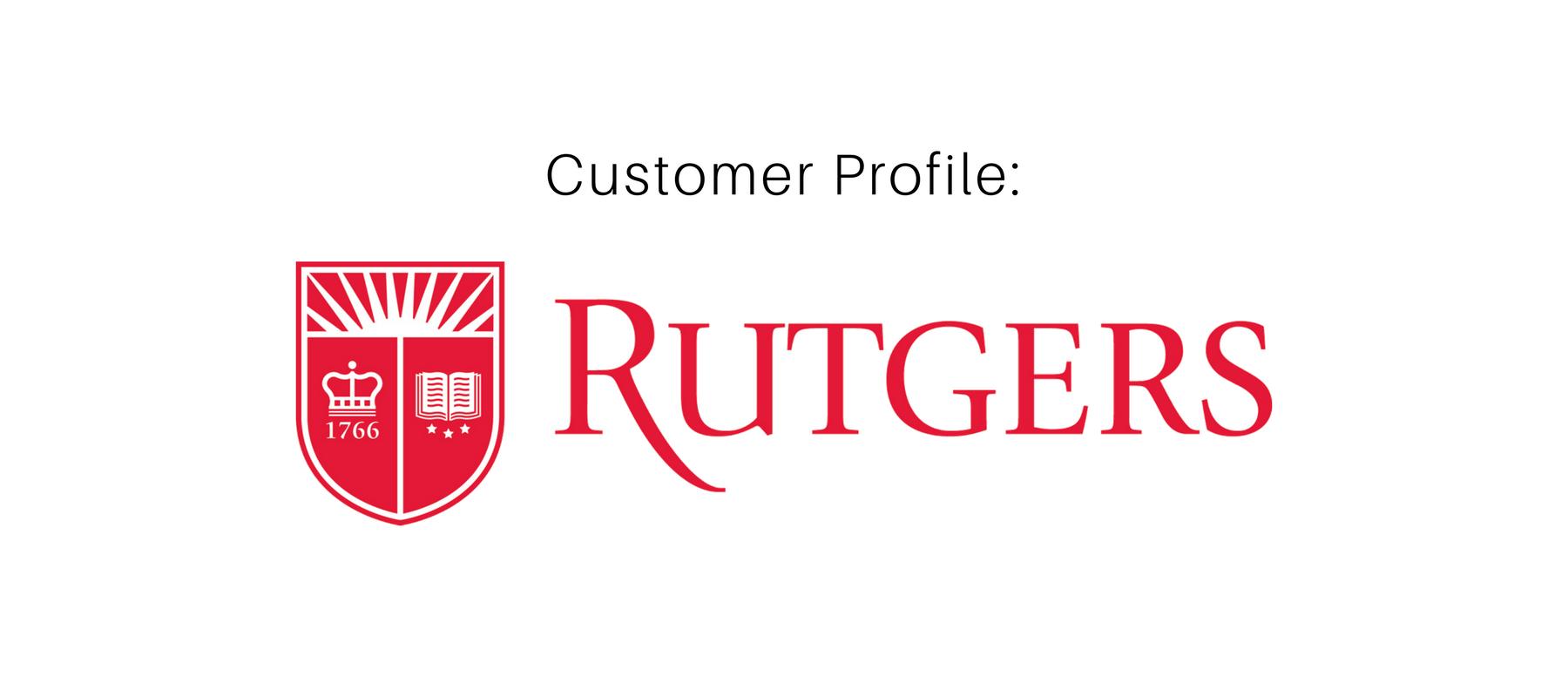 Customer Profile: Rutgers University inside Rutgers Powerpoint Template