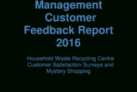 Customer Report | Templates At Allbusinesstemplates within Waste Management Report Template