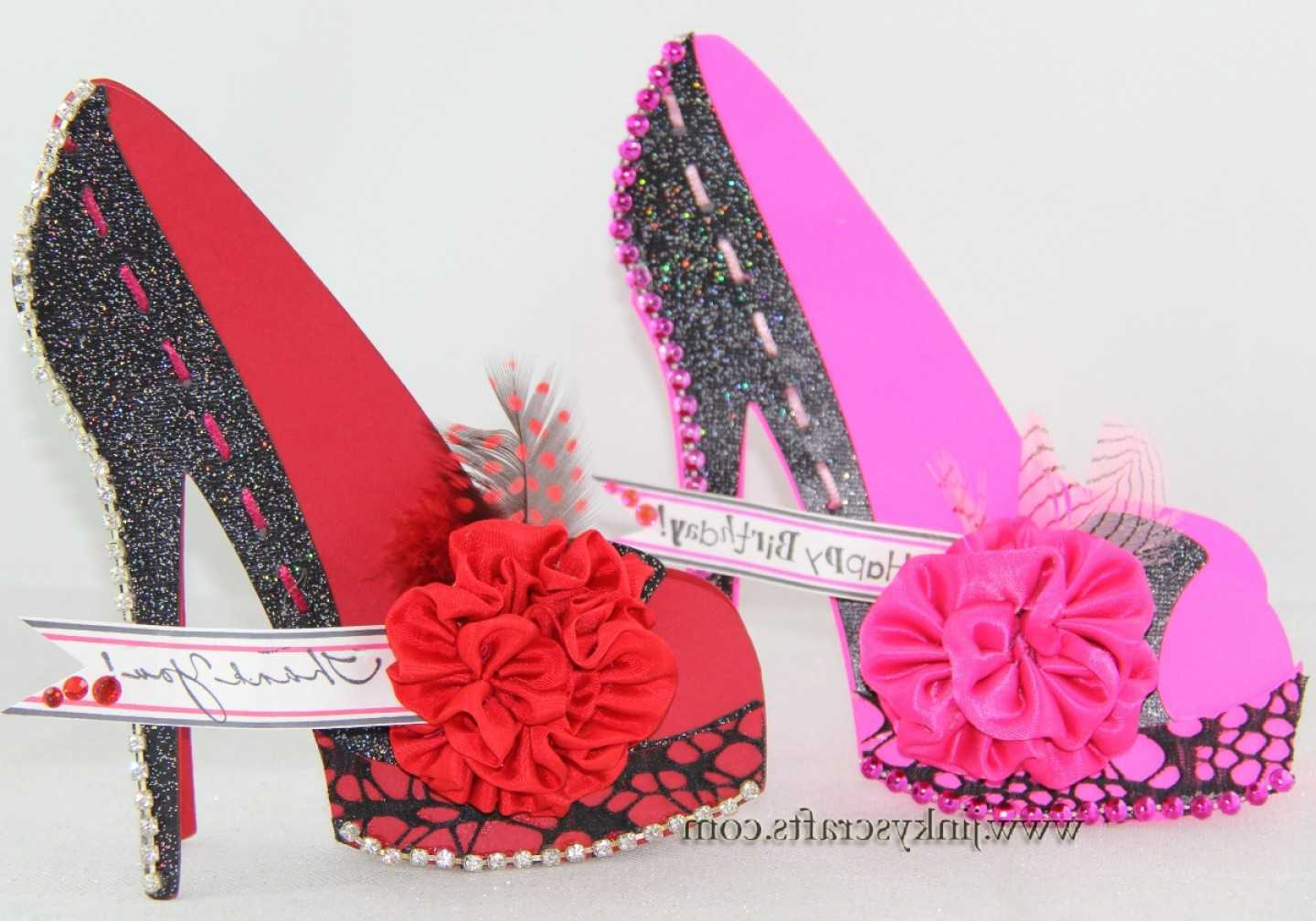 Cute High Heel Shoe D Cards | Digibless For High Heel Template For Cards