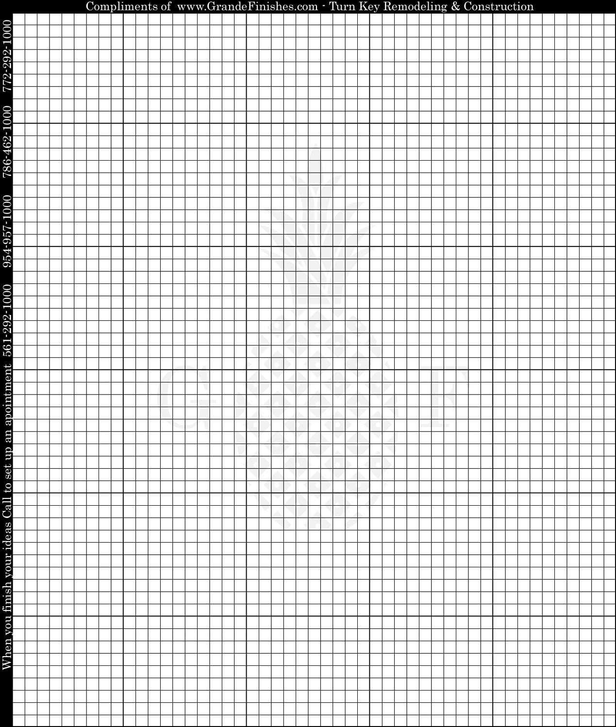 Готовые Срубы – Grande Finish Graph Paper C   Projects To Inside Blank Perler Bead Template