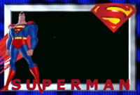 תוצאת תמונה עבור superheroes Printable Frames   Superman regarding Superman Birthday Card Template