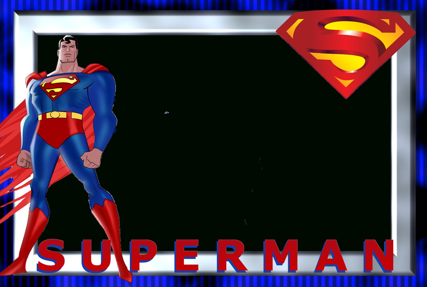 תוצאת תמונה עבור superheroes Printable Frames | Superman Regarding Superman Birthday Card Template