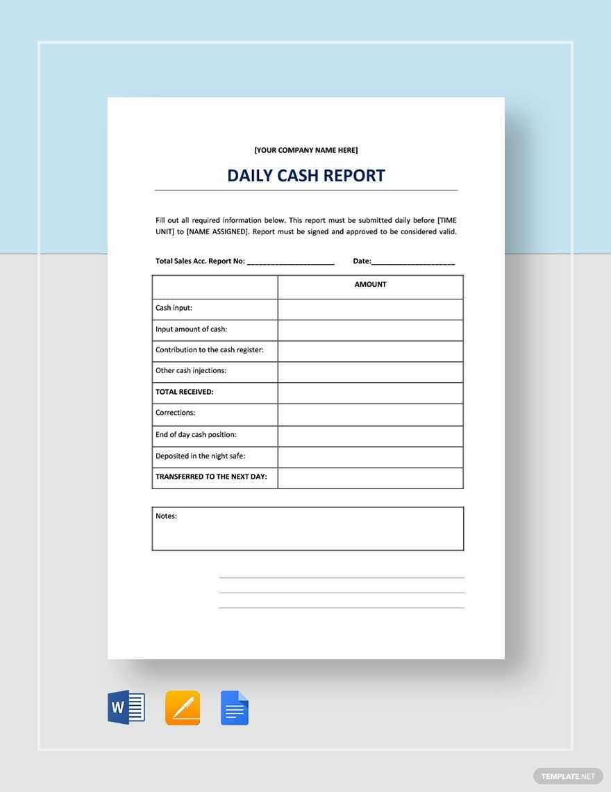 Daily Cash Report | Templates, Report Template, Cash Management with regard to Cash Position Report Template