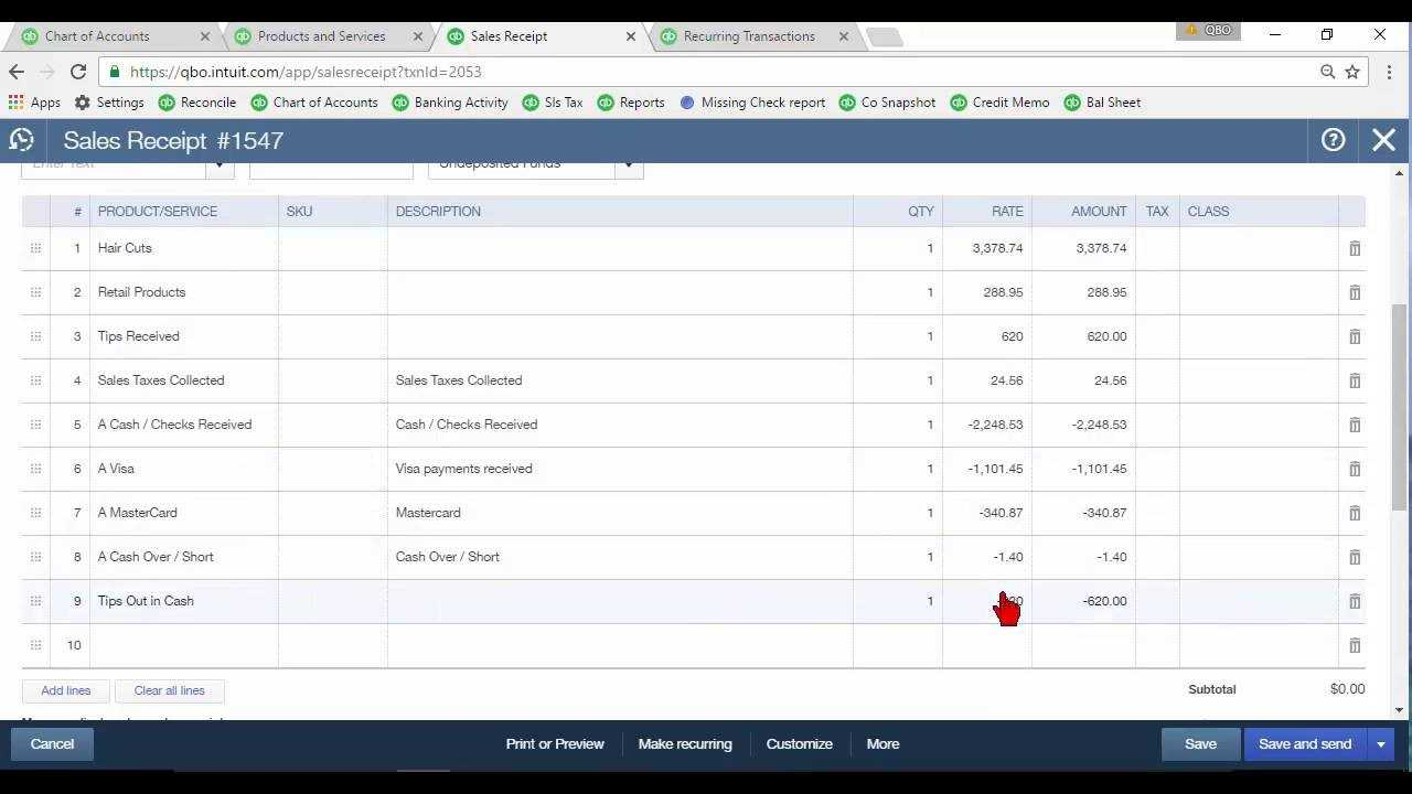 Daily Sales Summary In Quickbooks Online regarding Quick Book Reports Templates