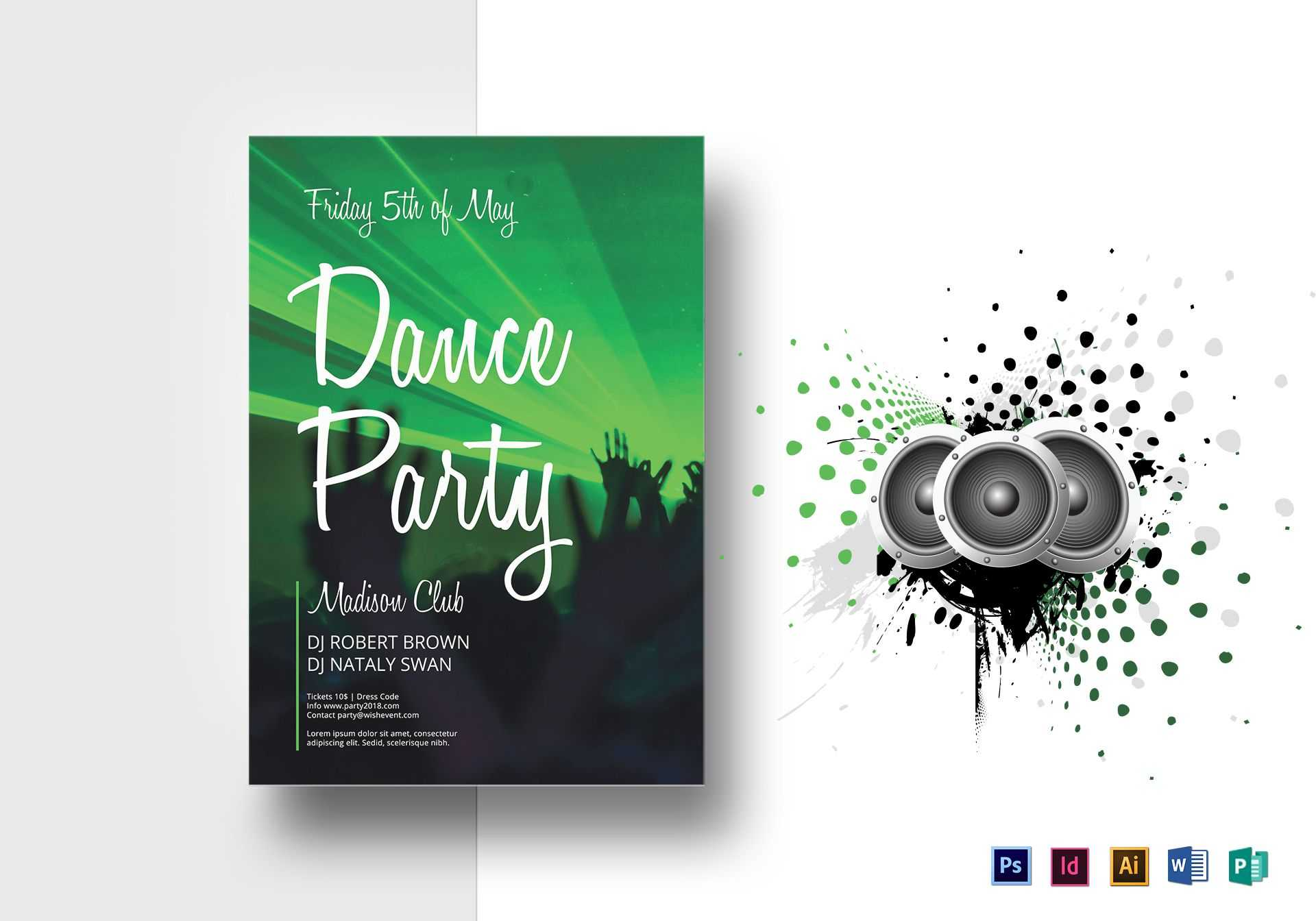 Dance Party Flyer Template Pertaining To Dance Flyer Template Word