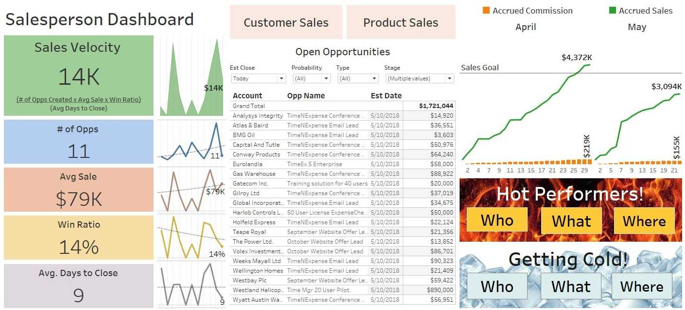 Dashboard And Report Samples For Sales with regard to Sales Rep Visit Report Template