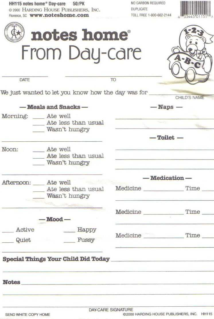 Day Care Infant Daily Report Sheets Printables | Daycare inside Daycare Infant Daily Report Template
