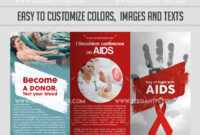 Day Of Fight With Aids Psd Brochure Intended For Hiv Aids throughout Hiv Aids Brochure Templates
