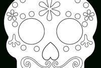 Day Of The Dead Masks Sugar Skulls Free Printable – Paper inside Blank Sugar Skull Template