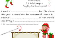 Dear Santa Fill In Letter Template – in Blank Letter From Santa Template