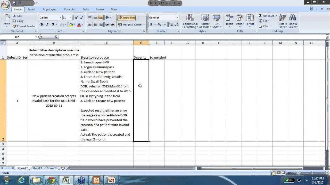 Defect Report Template Xls - Professional Template Throughout Defect Report Template Xls