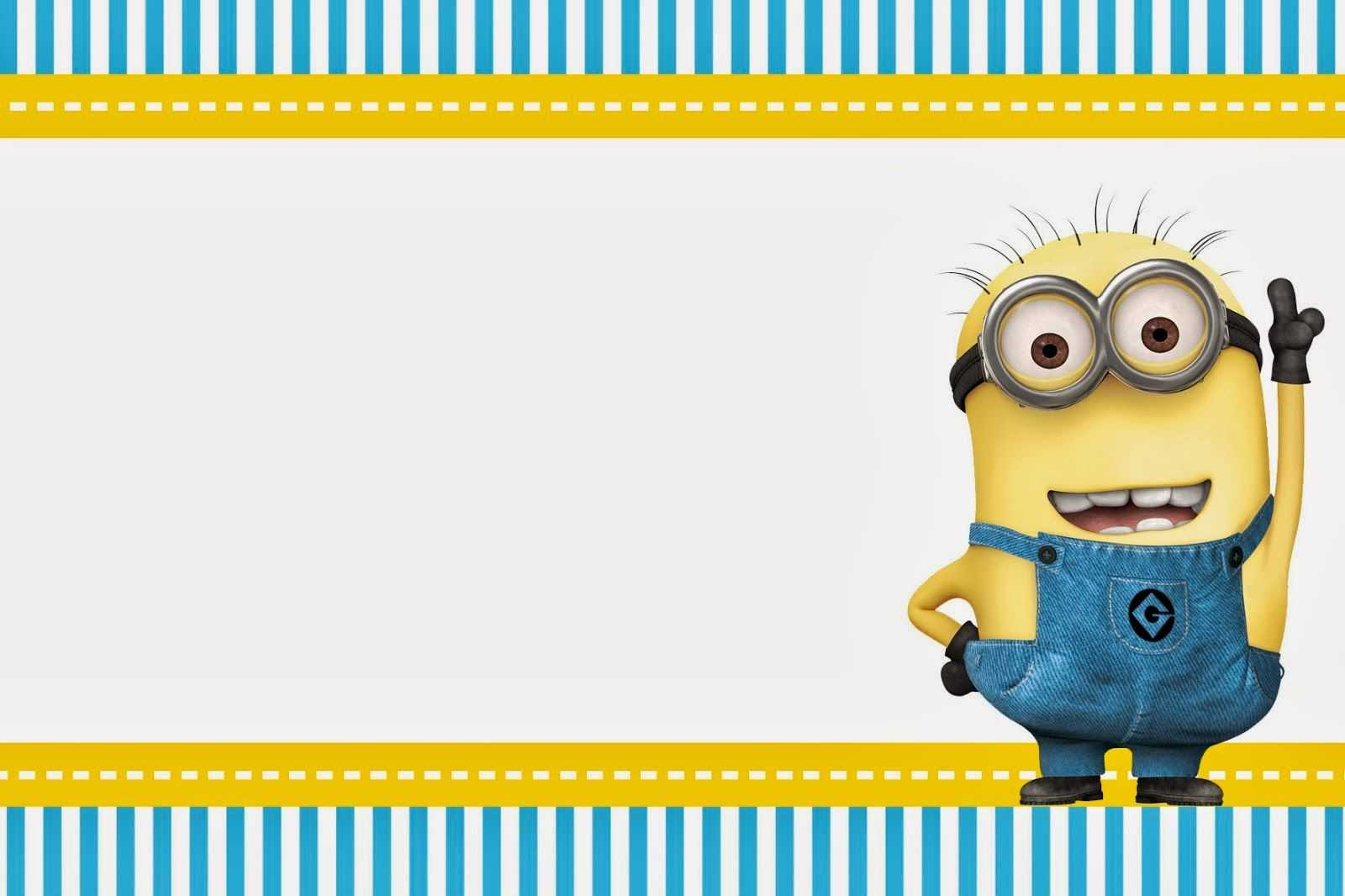 Despicable Me: Invitations And Party Free Printables. In Intended For Minion Card Template