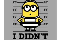 Despicable Me | Minion Dave – I Didn't Do It Postcard with regard to Minion Card Template