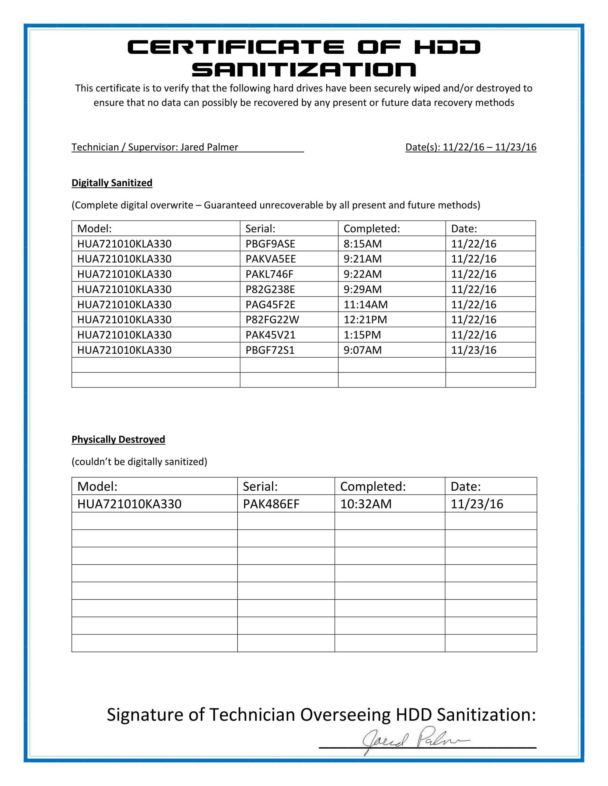 Destruction Certificate Template Image Collections Avery throughout Free Certificate Of Destruction Template