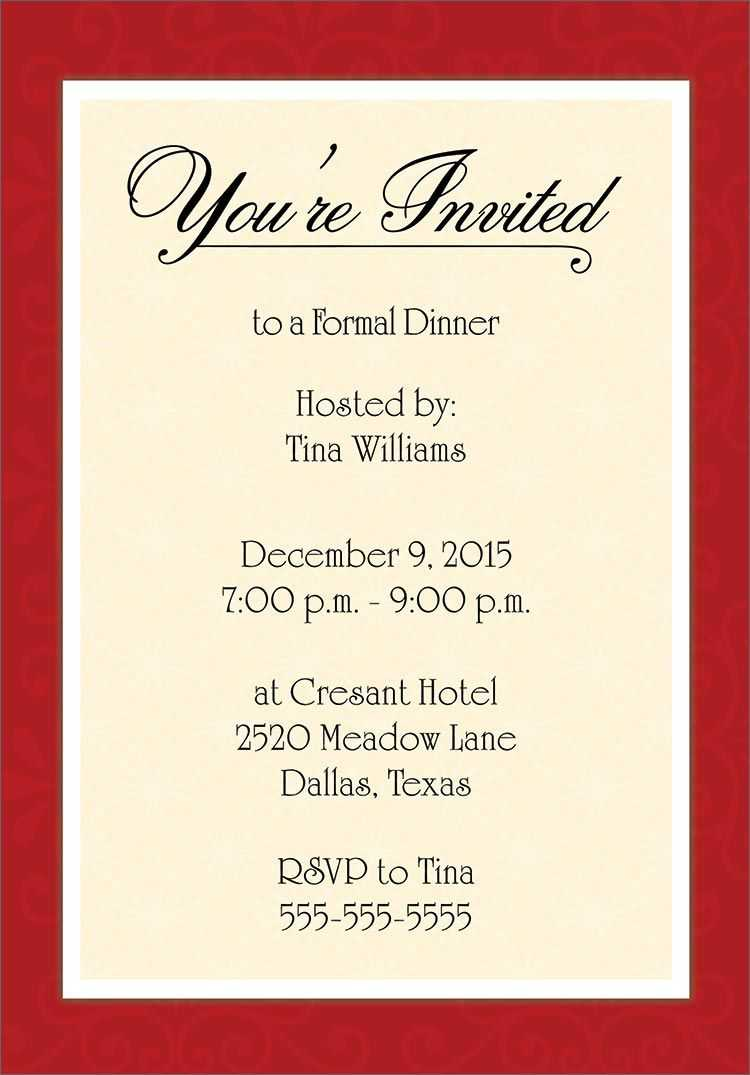 Dinner Invitation Template Free   Dinner Party Invitations In Free Dinner Invitation Templates For Word