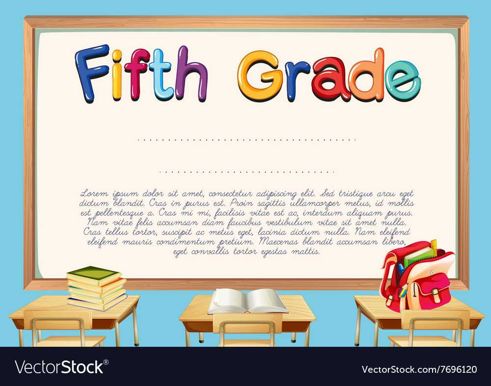 Diploma Template For Fifth Grade Students Throughout 5Th Throughout 5Th Grade Graduation Certificate Template