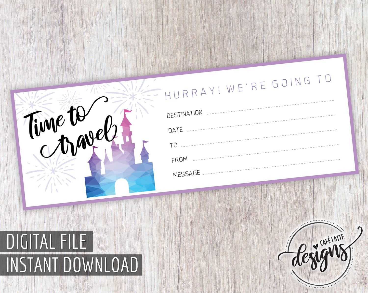 Disney Gift Certificate Printable, Thanksgiving Christmas With Kids Gift Certificate Template