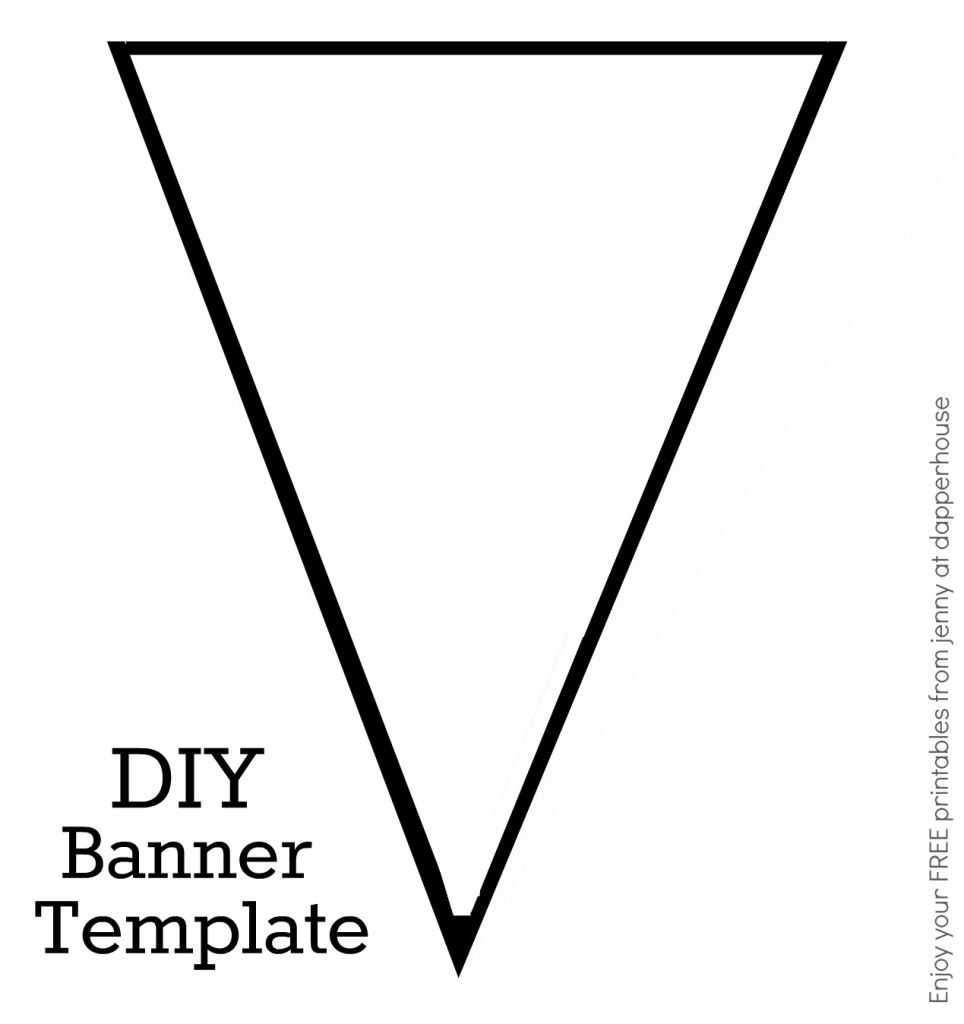 Diy Banner Template Free Printable From Jenny At Dapperhouse With Diy Banner Template Free