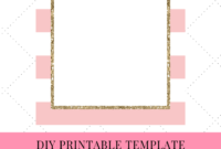 Do-It-Yourself (Diy) Pink Printable Striped/stripes Floral with Blank Bridal Shower Invitations Templates