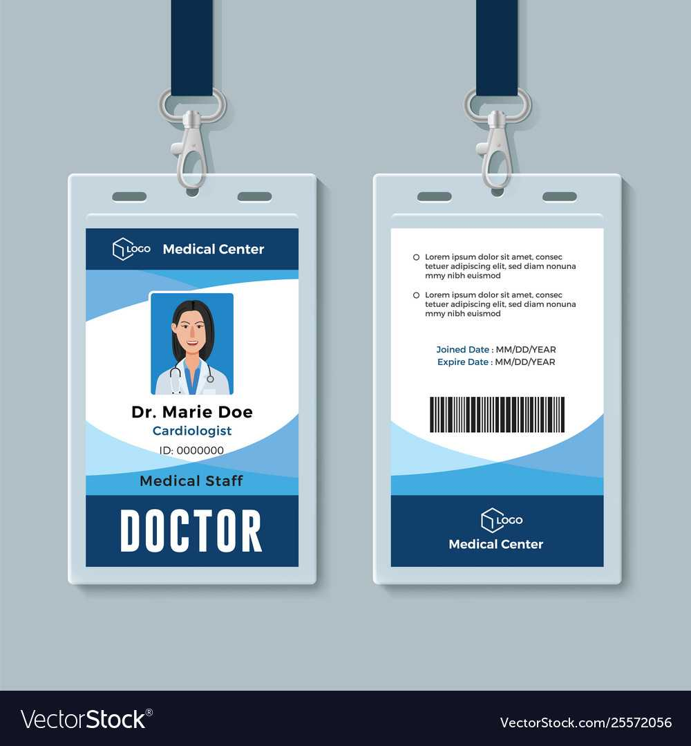 Doctor Id Badge Medical Identity Card Design for Doctor Id Card Template
