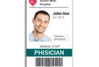 Doctor Id Card #2 | Id Card Template, Identity Card Design in Teacher Id Card Template