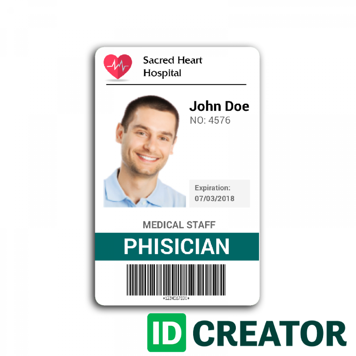 Doctor Id Card #2 | Id Card Template, Identity Card Design in Teacher Id Card Template