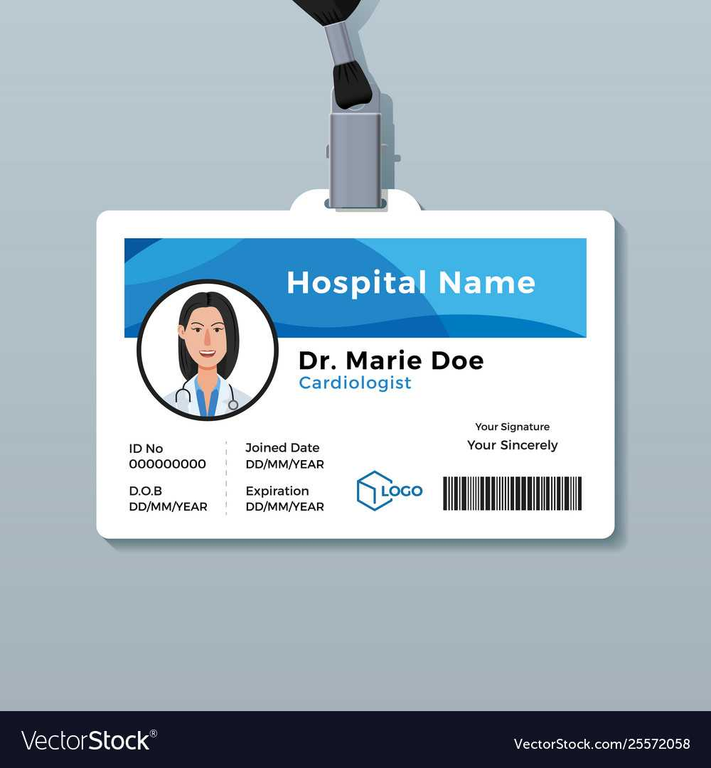 Doctor Id Card Medical Identity Badge Template Throughout Doctor Id Card Template
