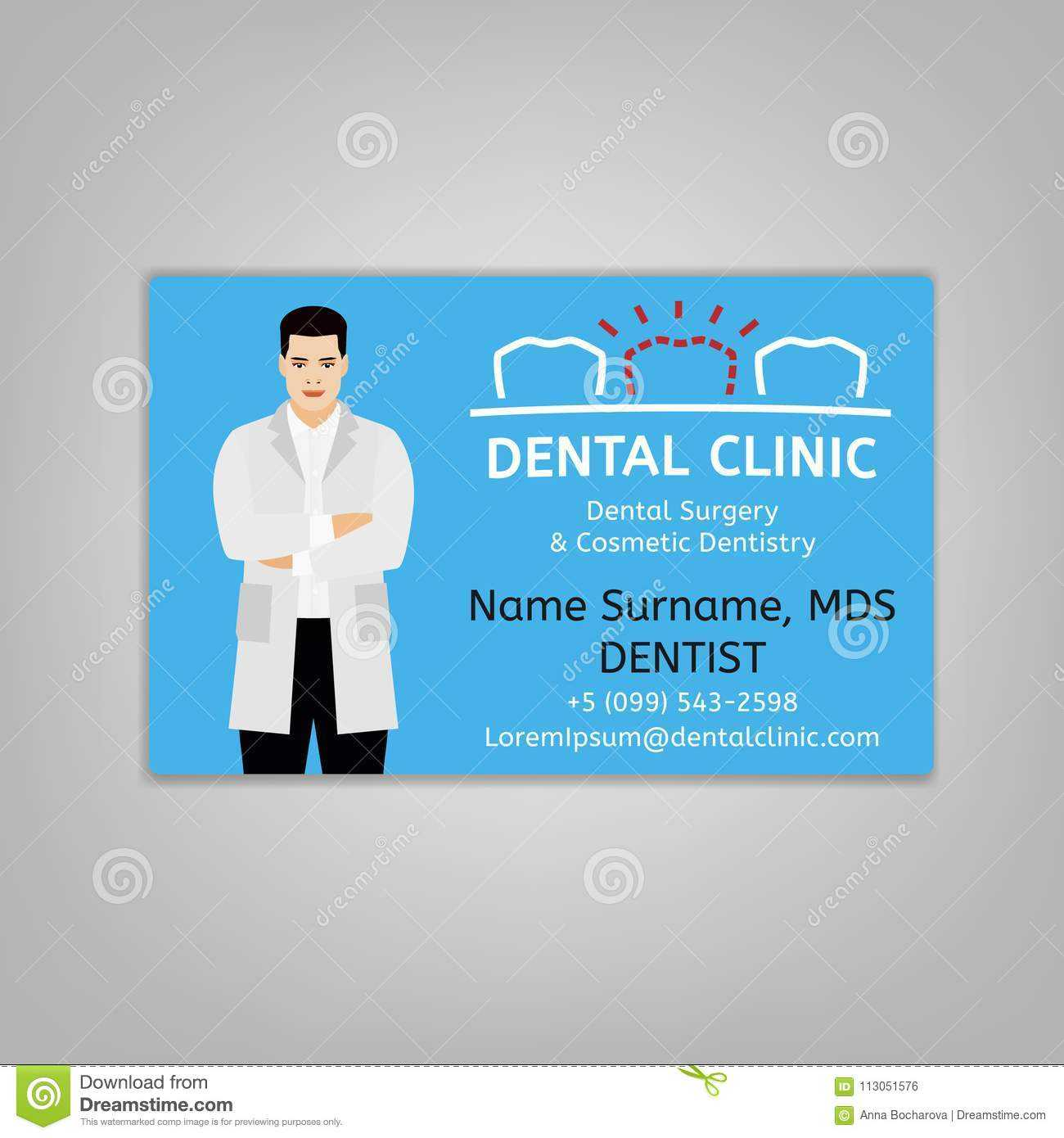 Doctor Id Card Stock Vector. Illustration Of Care, Dental pertaining to Doctor Id Card Template