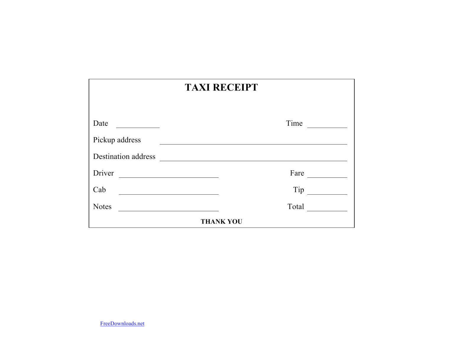 Download Blank Printable Taxi Cab Receipt Template Excel Throughout Blank Taxi Receipt Template
