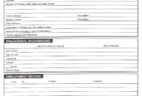 Download Free Blank Resume Forms Pdf | Biodata Format pertaining to Free Bio Template Fill In Blank