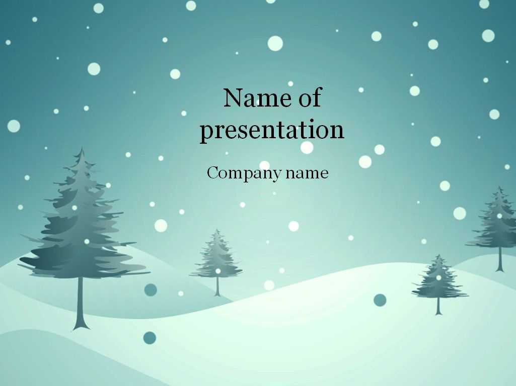 Download Free Blue Winter Powerpoint Template For for Snow Powerpoint Template