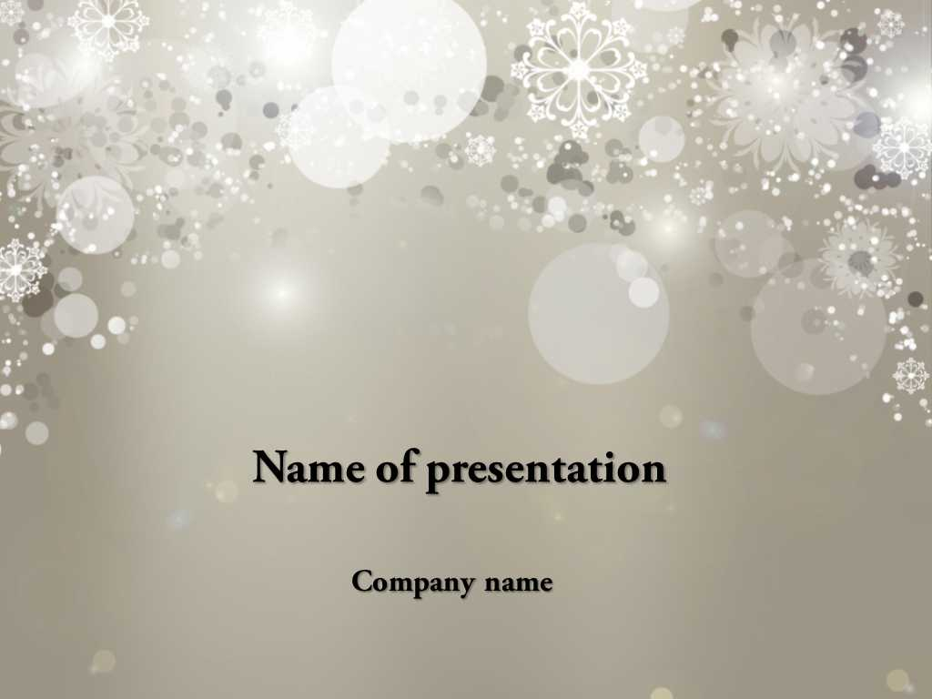 Download Free Falling Snow Powerpoint Template For Presentation for Snow Powerpoint Template