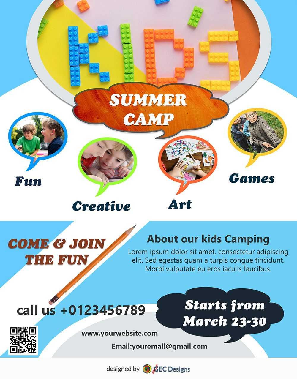 Download Free Flyer Templates | Flyer Design Inspiration Regarding Summer Camp Brochure Template Free Download