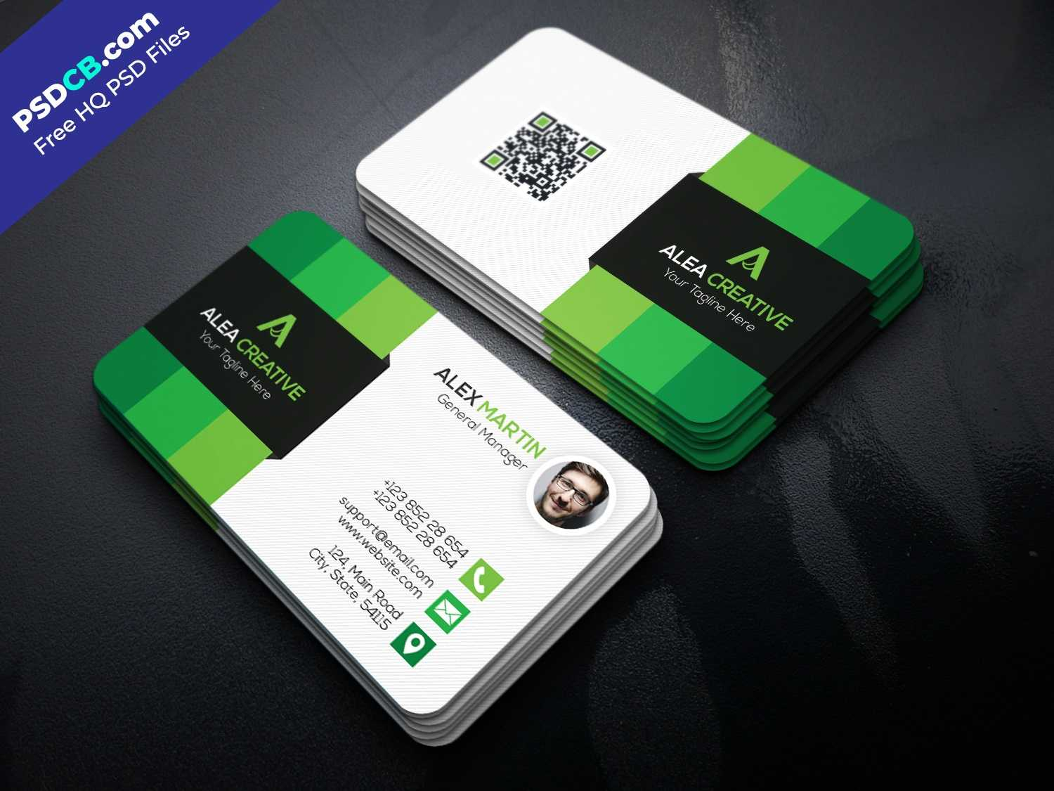 Download Free Modern Business Card Template Psd Set - Psdcb intended for Free Psd Visiting Card Templates Download